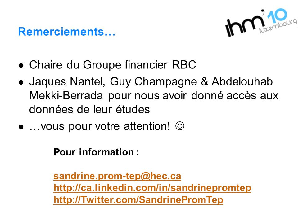 Chaire du Groupe financier RBC