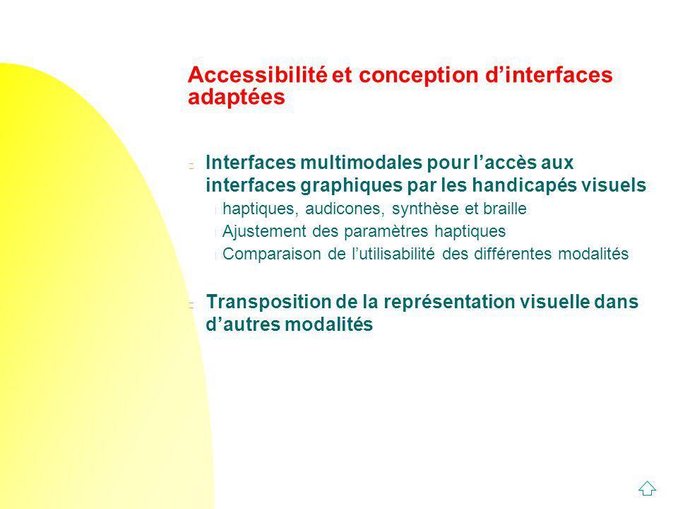Accessibilité et conception d'interfaces adaptées