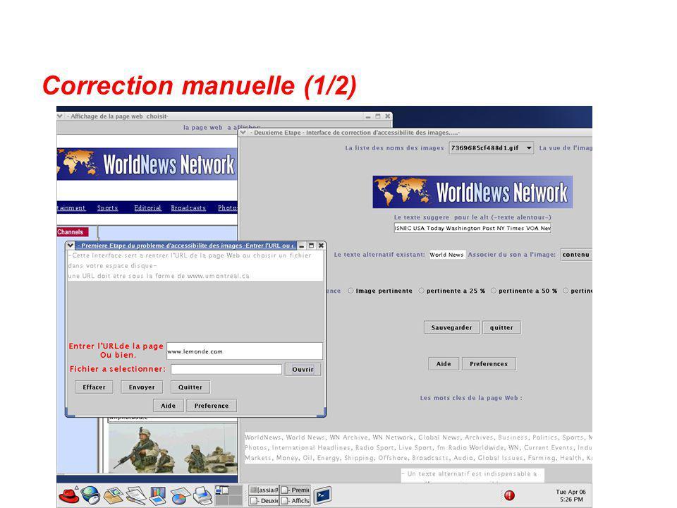 Correction manuelle (1/2)