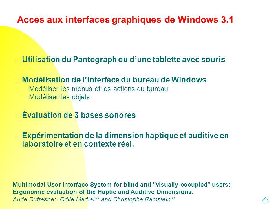 Acces aux interfaces graphiques de Windows 3.1