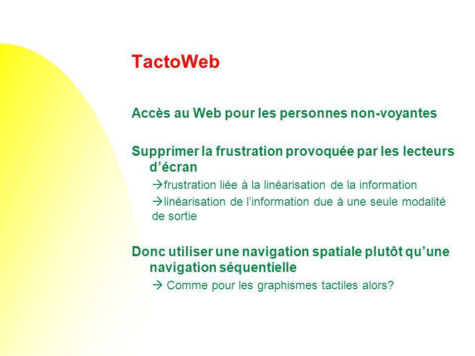 TactoWeb Accès au Web pour les personnes non-voyantes