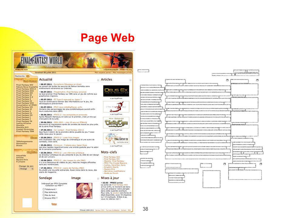 Page Web existing Web page