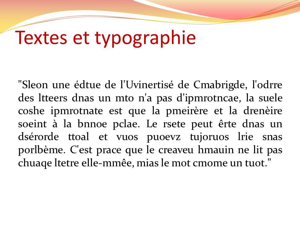 Textes et typographie