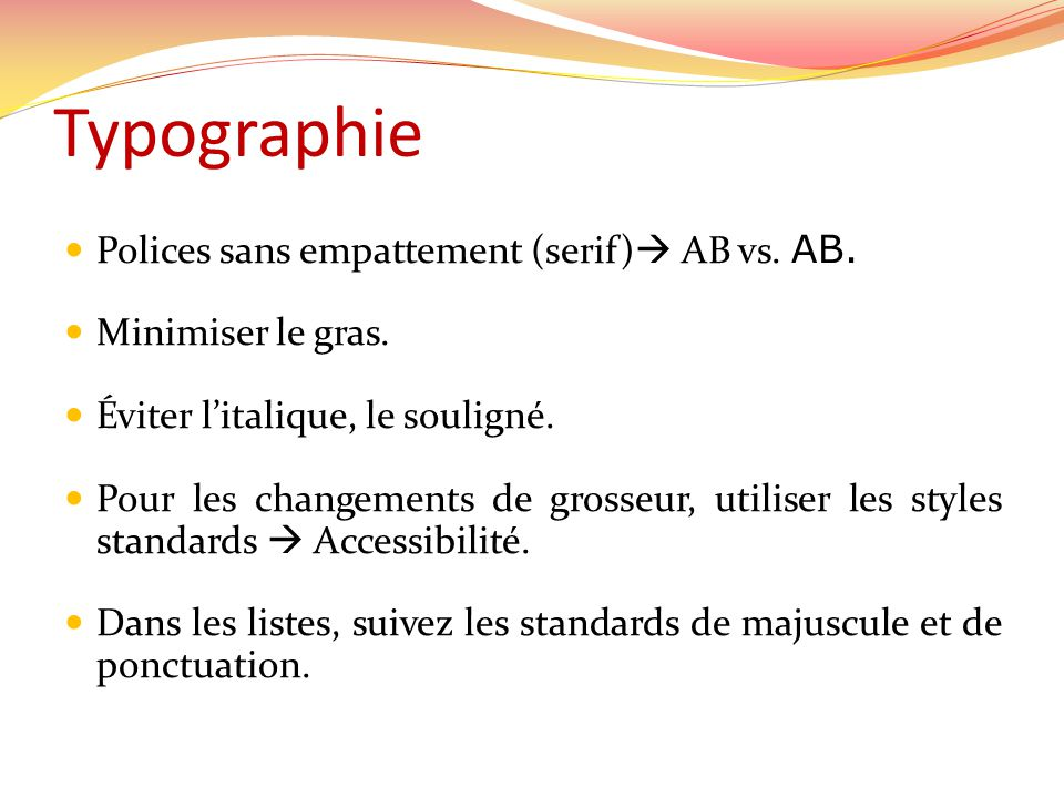 Typographie Polices sans empattement (serif) AB vs. AB.