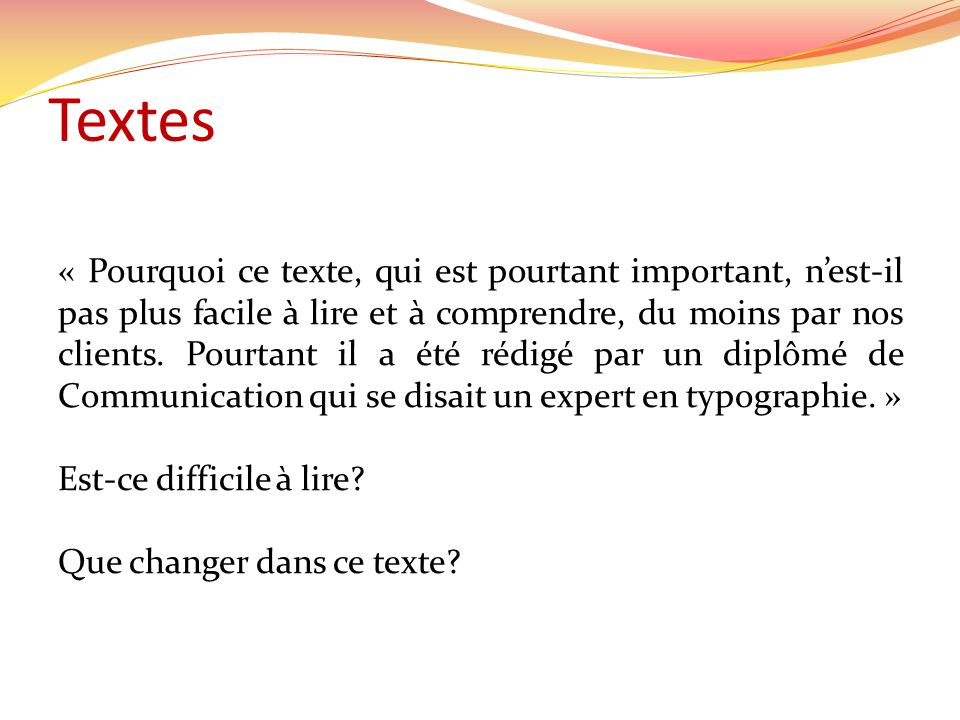Textes
