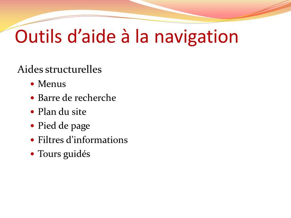 Outils d'aide à la navigation