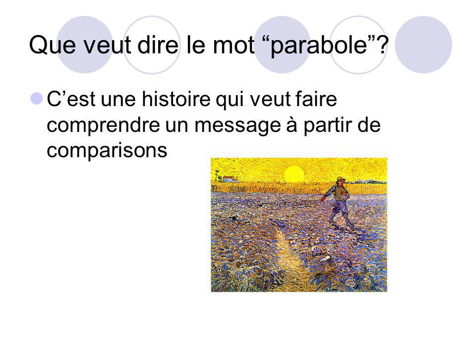 Que veut dire le mot parabole