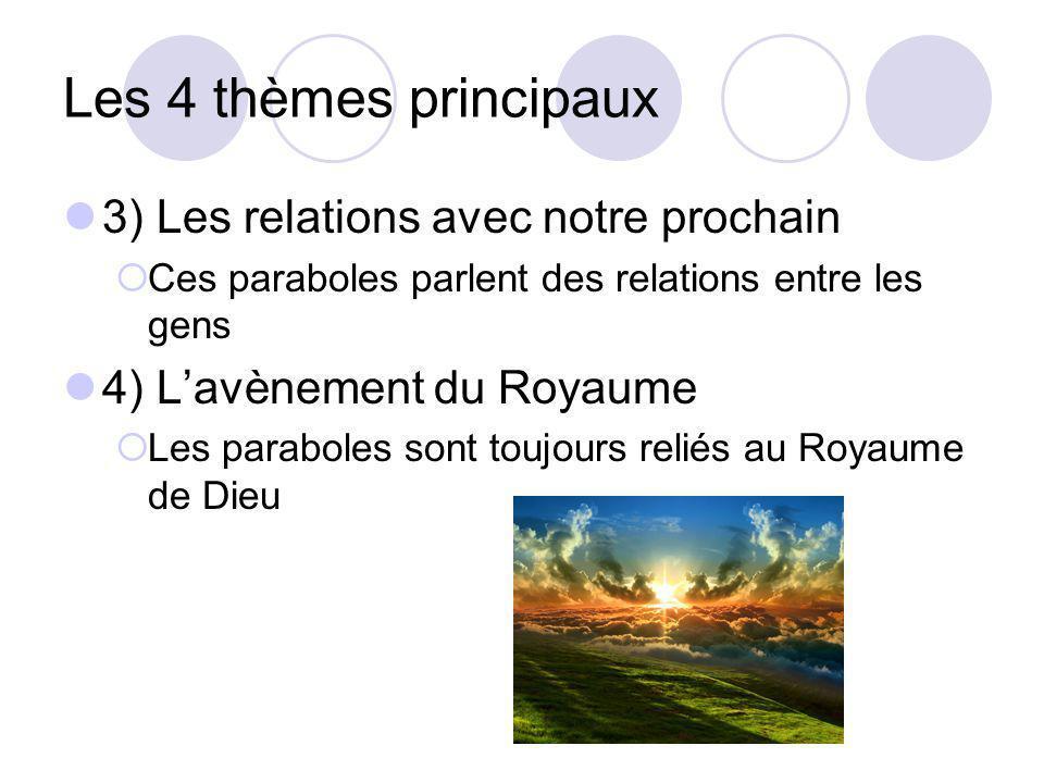 Les 4 thèmes principaux 3) Les relations avec notre prochain