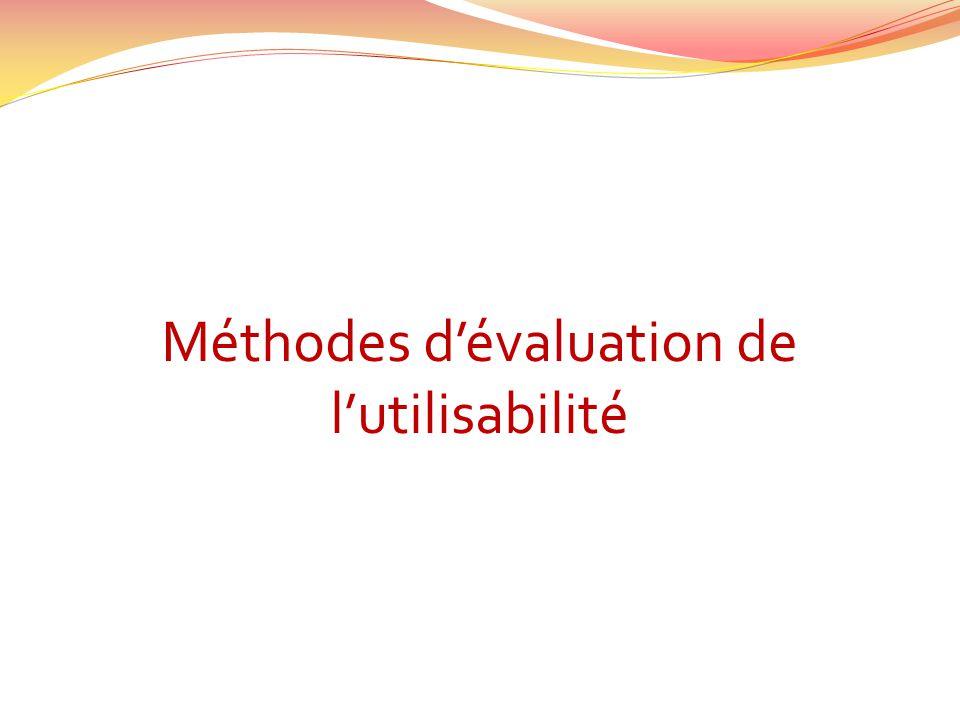 Méthodes d'évaluation de l'utilisabilité