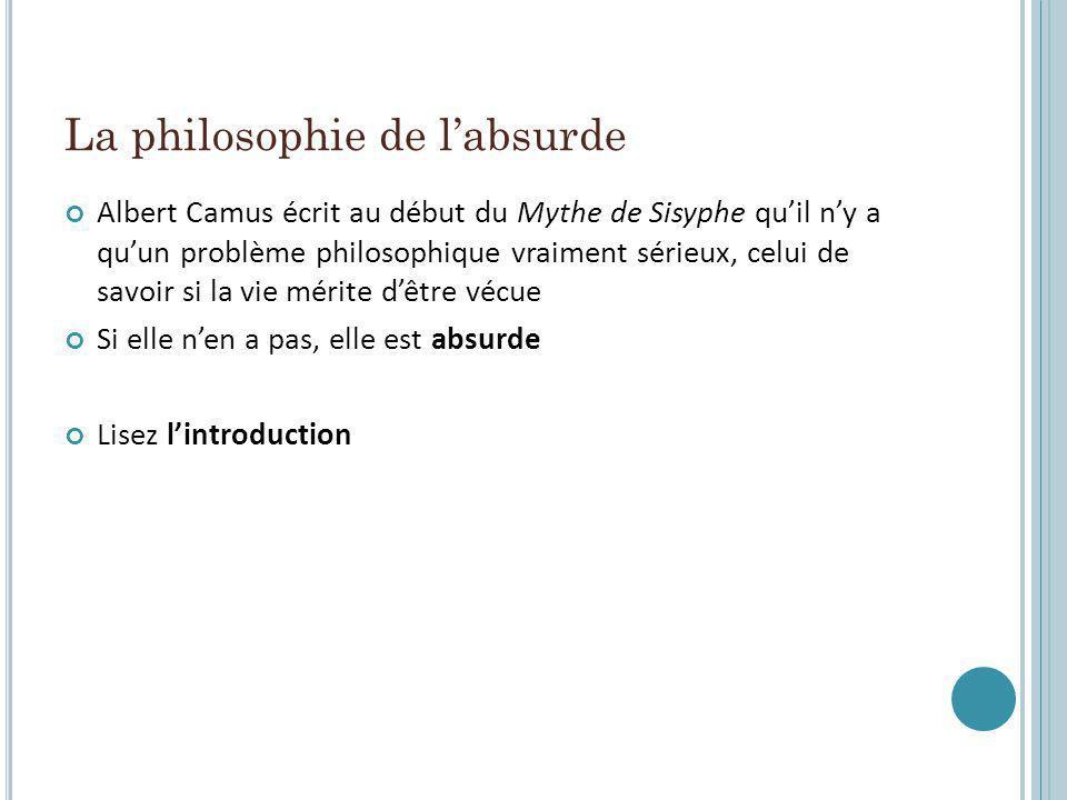 La philosophie de l'absurde