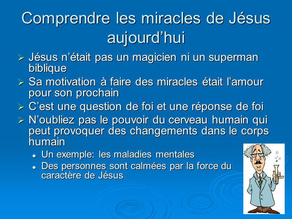 Comprendre les miracles de Jésus aujourd'hui