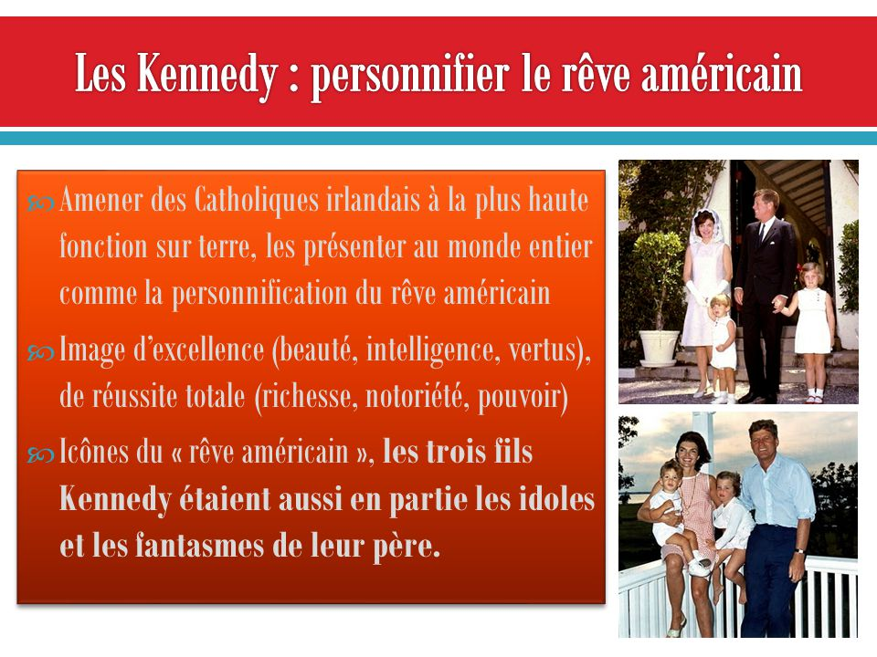 Les Kennedy : personnifier le rêve américain