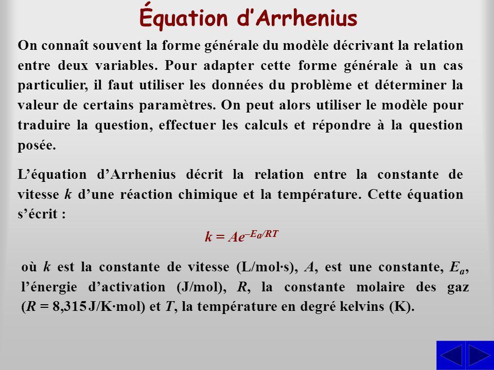 Équation d'Arrhenius