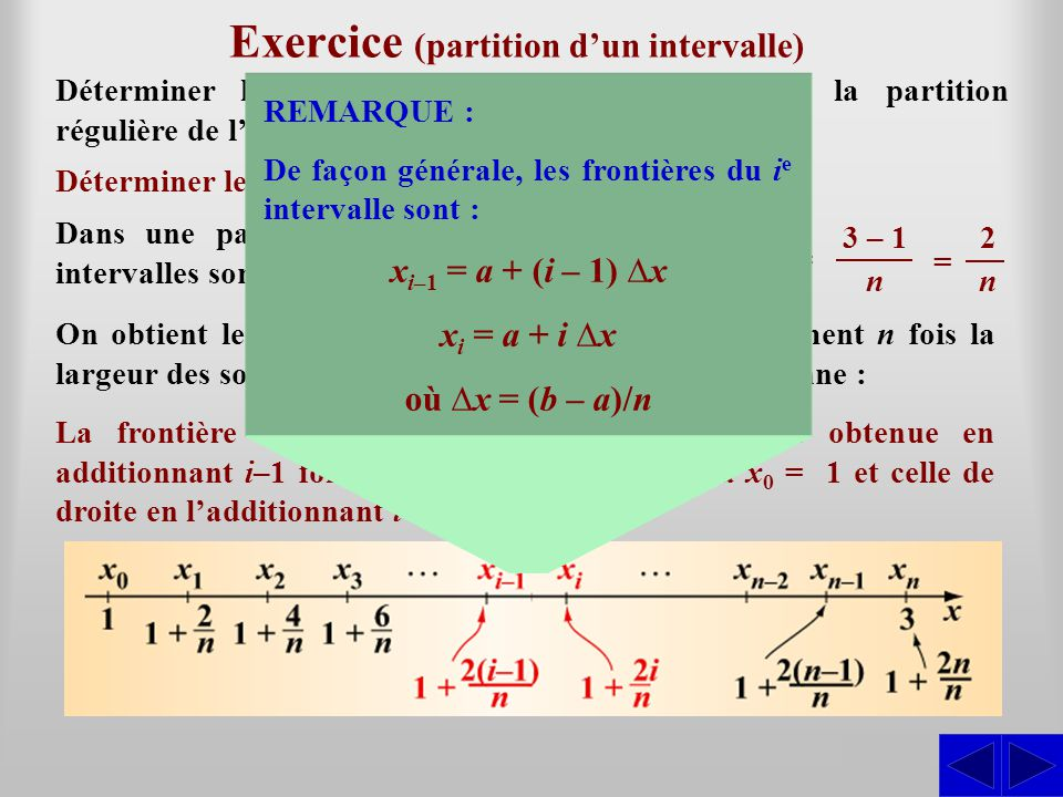 Exercice (partition d'un intervalle)