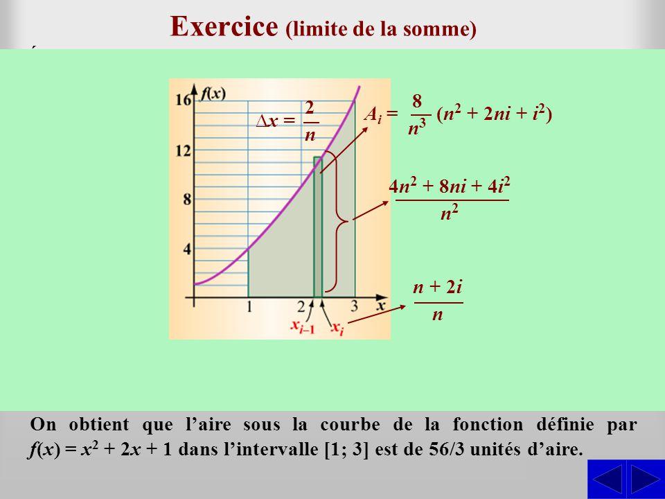 Exercice (limite de la somme)