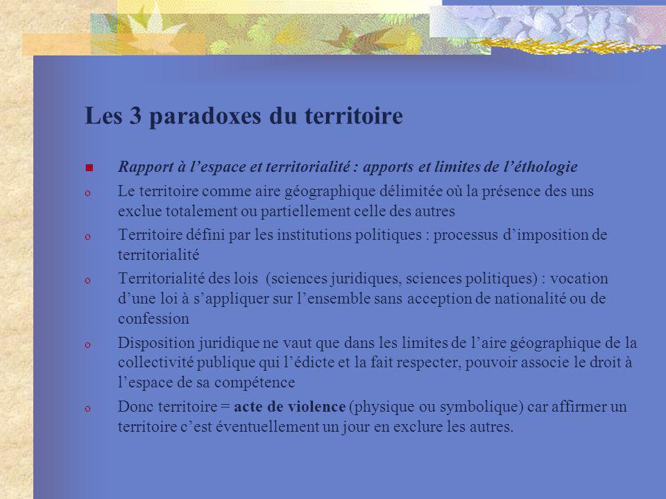 Les 3 paradoxes du territoire
