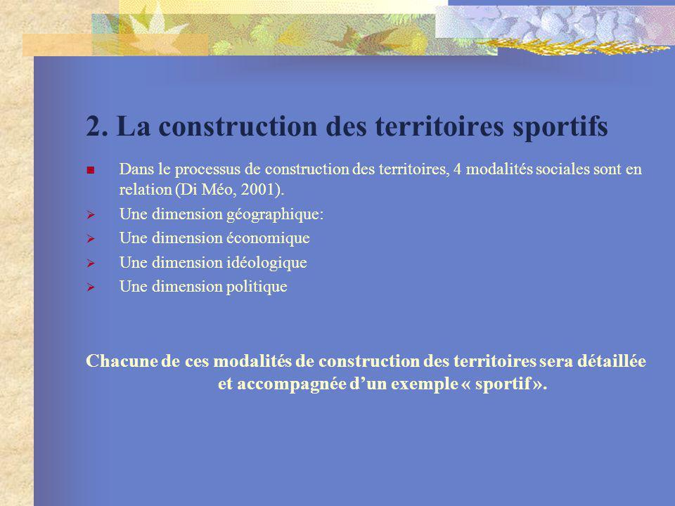 2. La construction des territoires sportifs