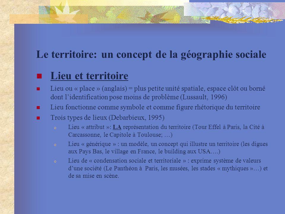 Le territoire: un concept de la géographie sociale