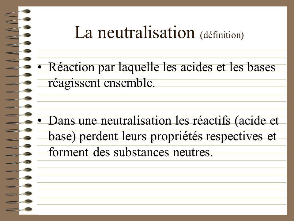 La neutralisation (définition)