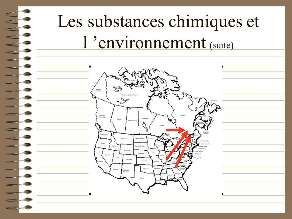Les substances chimiques et l 'environnement (suite)