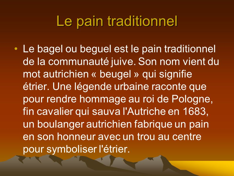 Le pain traditionnel
