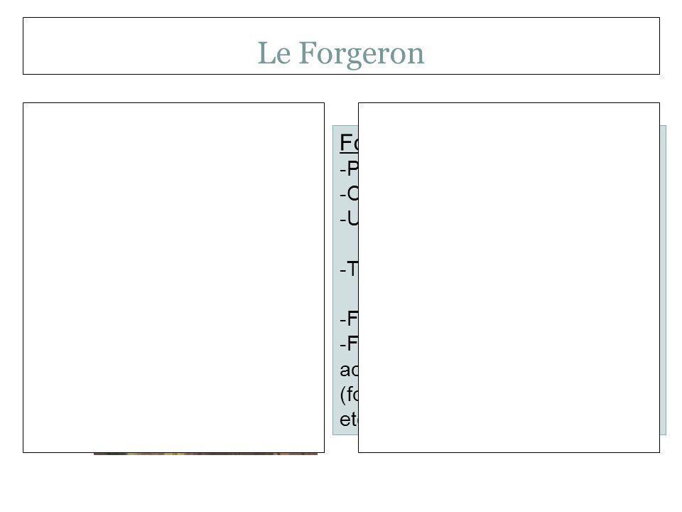 Le Forgeron Forgeron Personnage important.