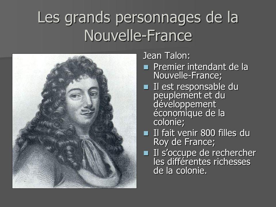Les grands personnages de la Nouvelle-France