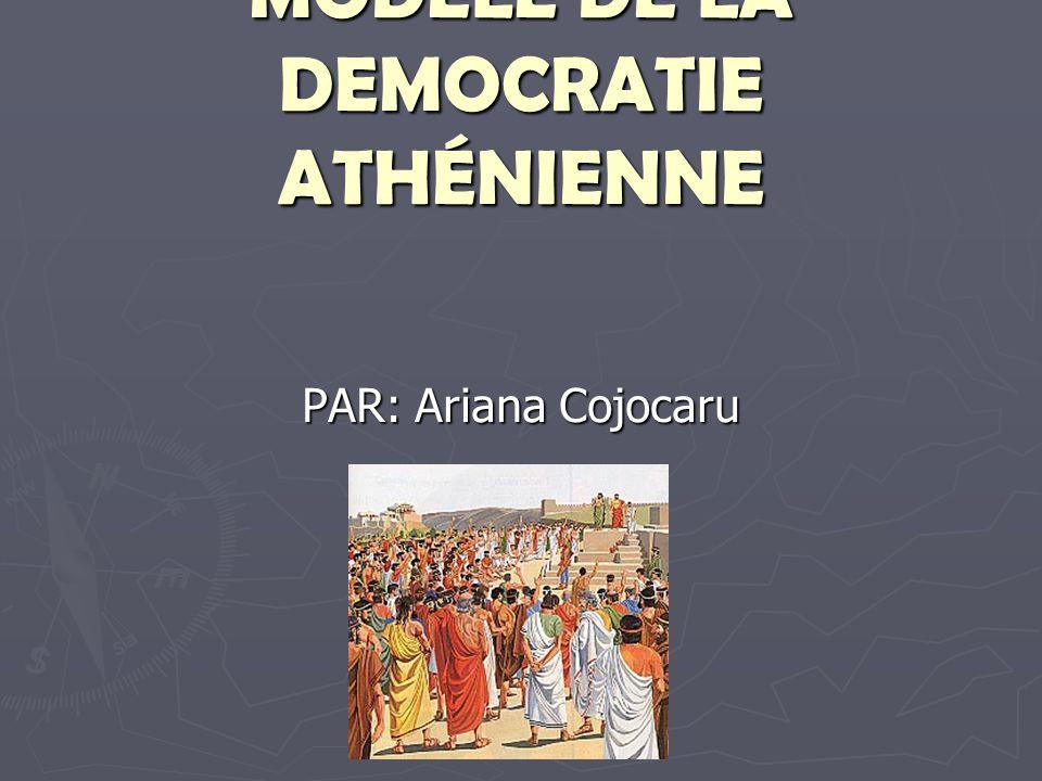 MODELE DE LA DEMOCRATIE ATHÉNIENNE