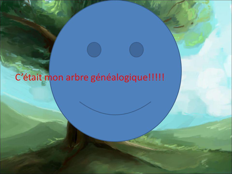 C'était mon arbre généalogique!!!!!