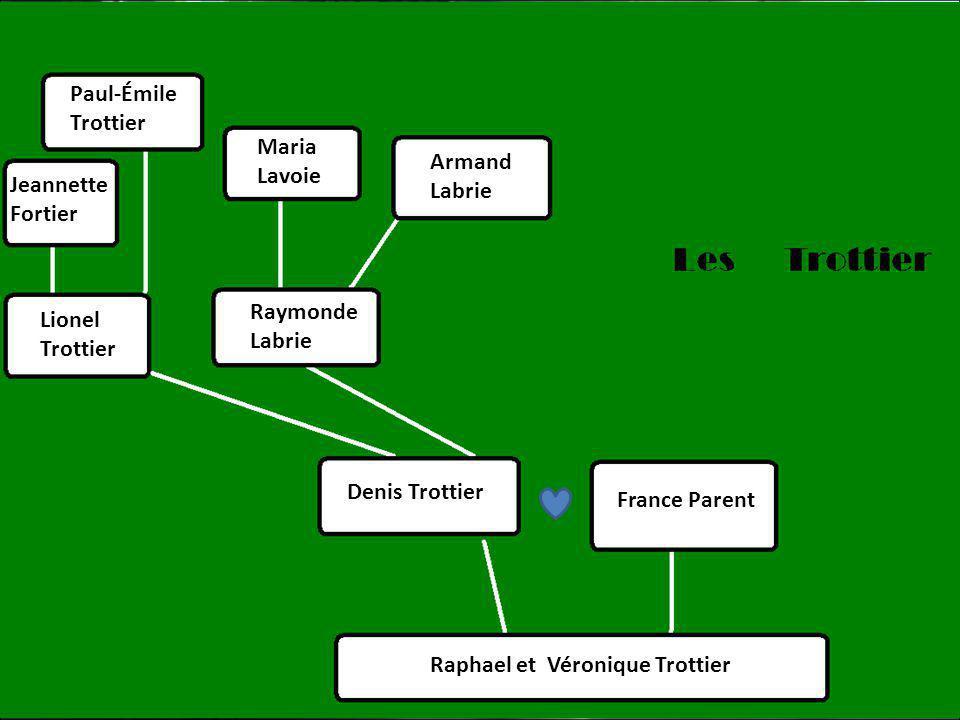 Paul-Émile Trottier. Maria. Lavoie. Armand. Labrie. Jeannette. Fortier. Raymonde. Labrie. Lionel.