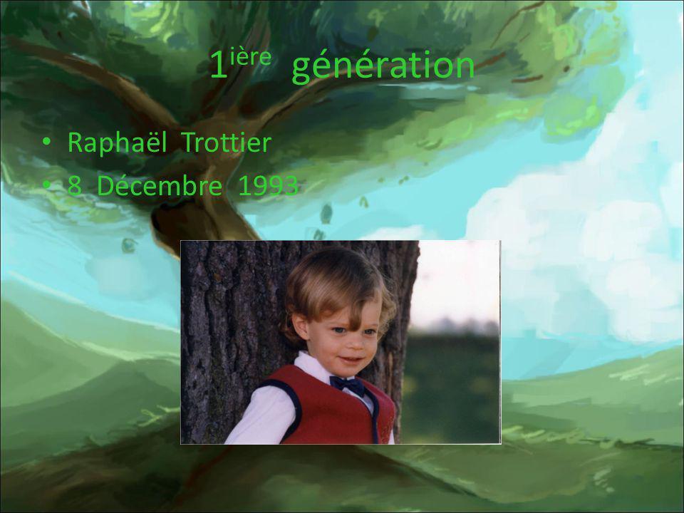 1ière génération Raphaël Trottier 8 Décembre 1993