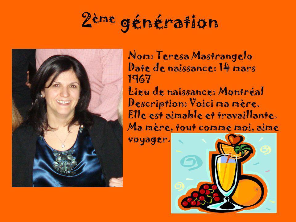 2ème génération Nom: Teresa Mastrangelo
