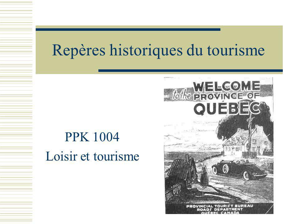 Repères historiques du tourisme