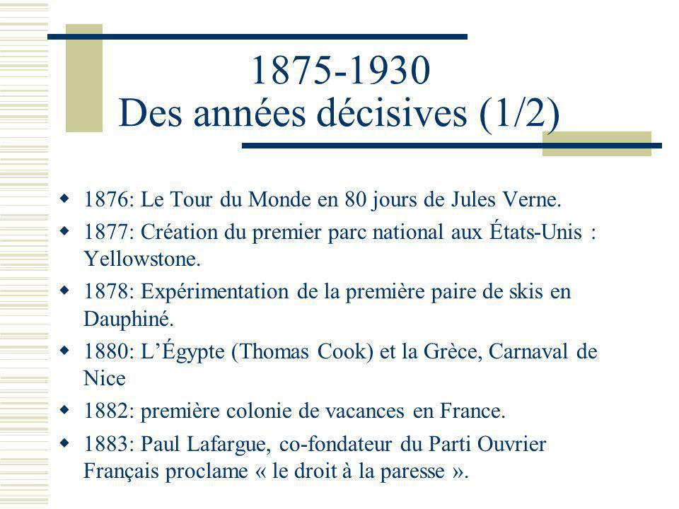 1875-1930 Des années décisives (1/2)
