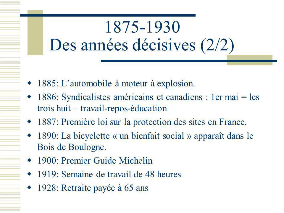 1875-1930 Des années décisives (2/2)