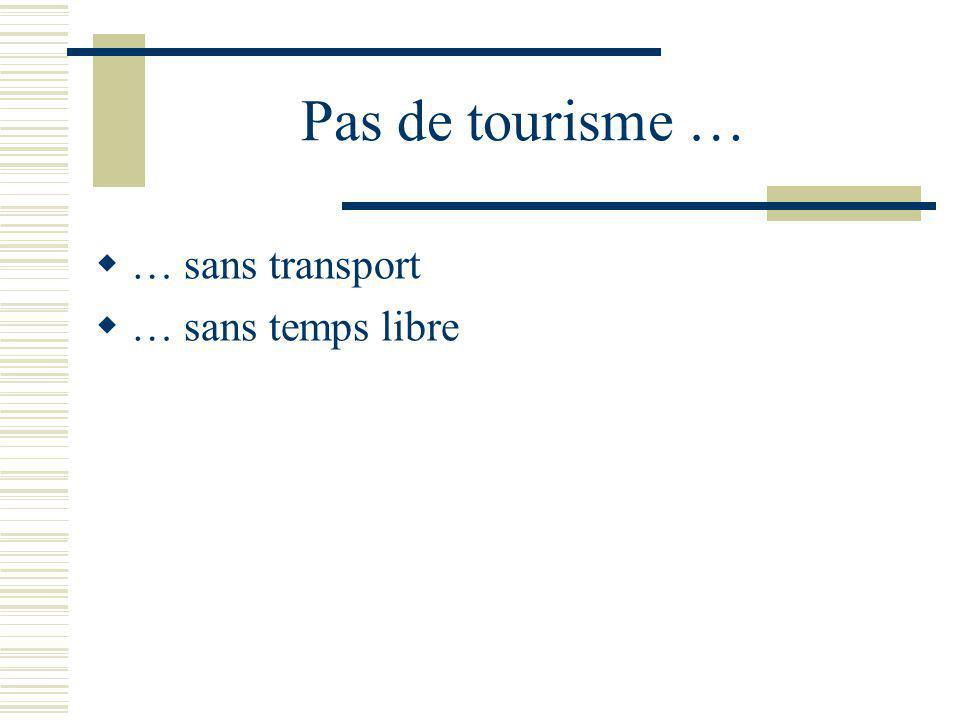 Pas de tourisme … … sans transport … sans temps libre Dupuy, p.101