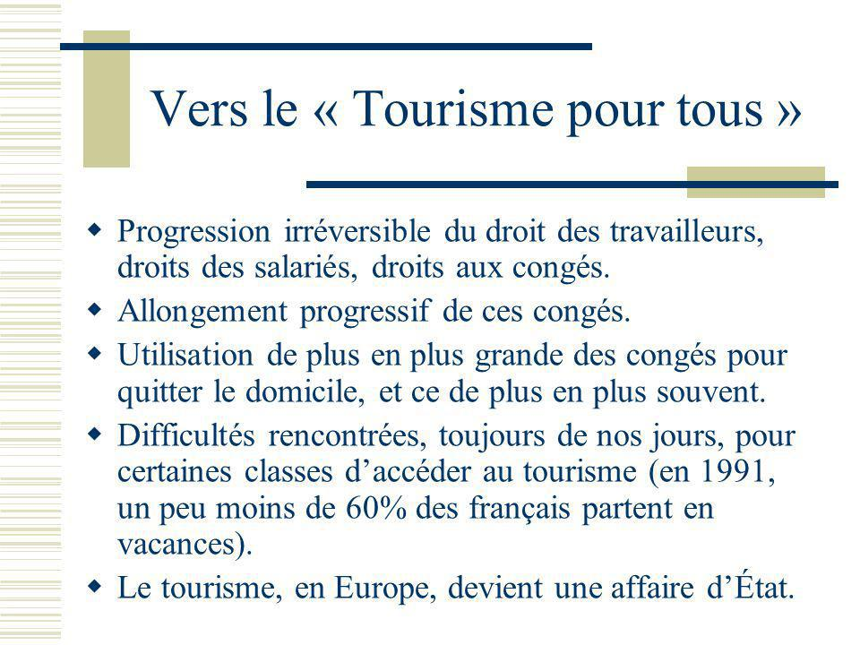 Vers le « Tourisme pour tous »