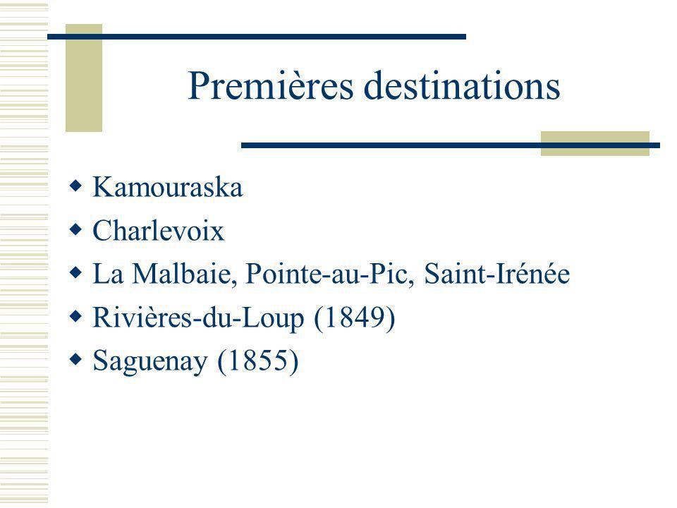 Premières destinations