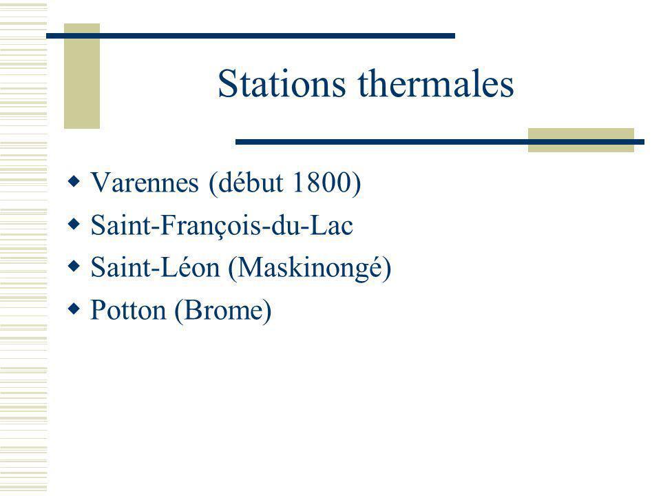 Stations thermales Varennes (début 1800) Saint-François-du-Lac