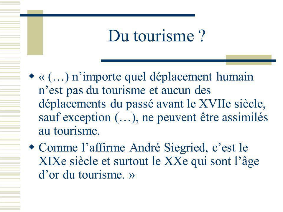Du tourisme
