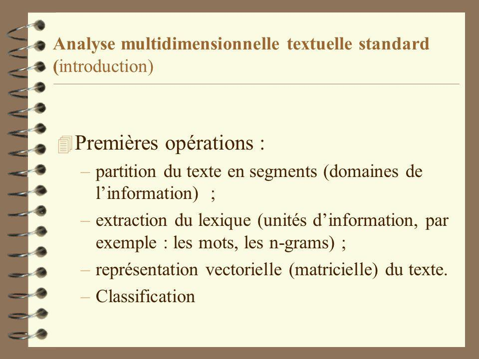Analyse multidimensionnelle textuelle standard (introduction)