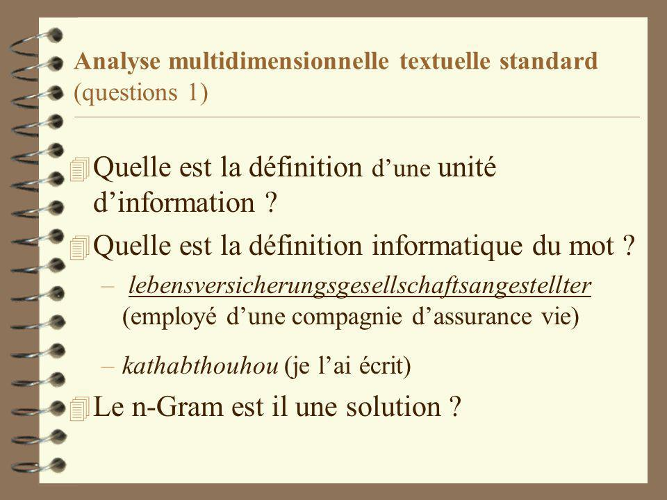 Analyse multidimensionnelle textuelle standard (questions 1)