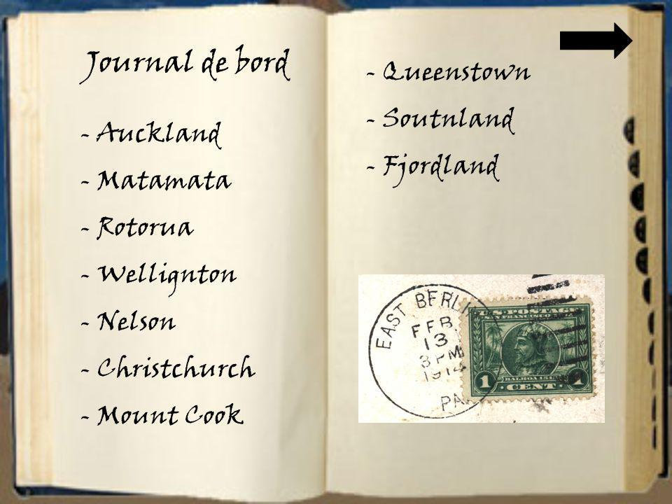 Journal de bord Queenstown Soutnland Fjordland Auckland Matamata