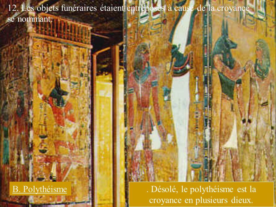 . Désolé, le polythéisme est la croyance en plusieurs dieux.