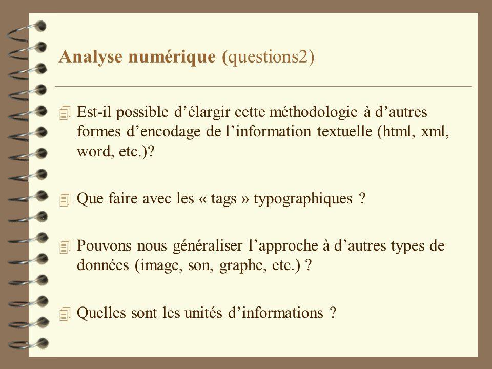 Analyse numérique (questions2)