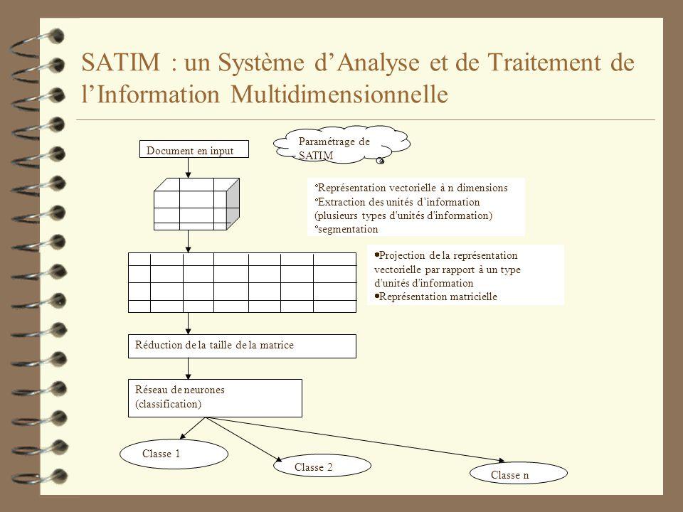 SATIM : un Système d'Analyse et de Traitement de l'Information Multidimensionnelle