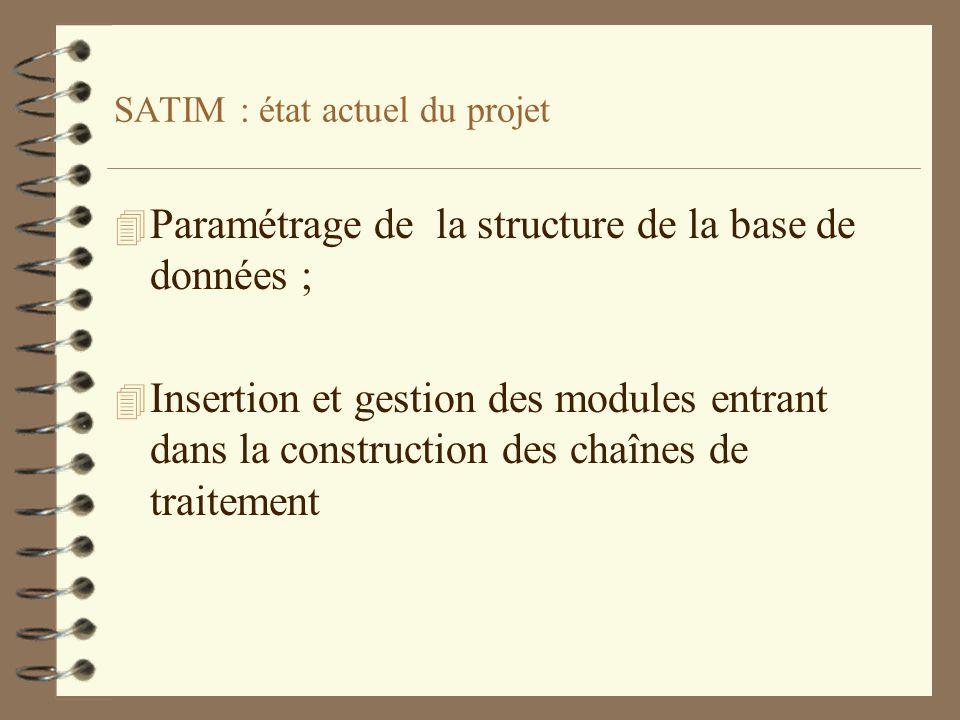 SATIM : état actuel du projet