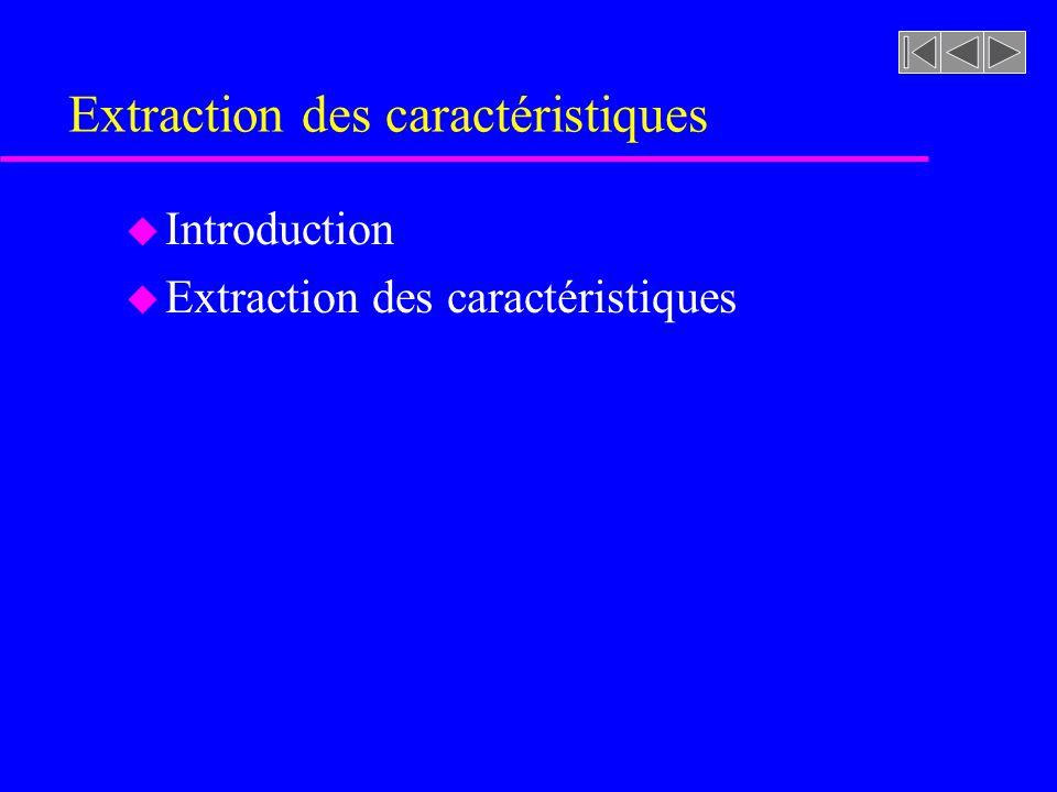 Extraction des caractéristiques