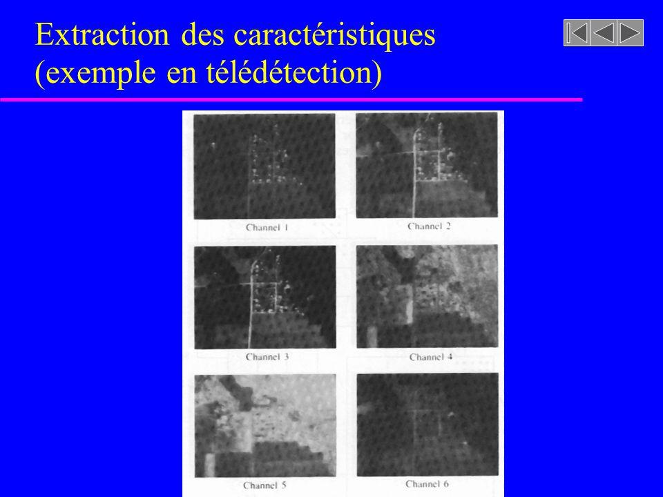 Extraction des caractéristiques (exemple en télédétection)