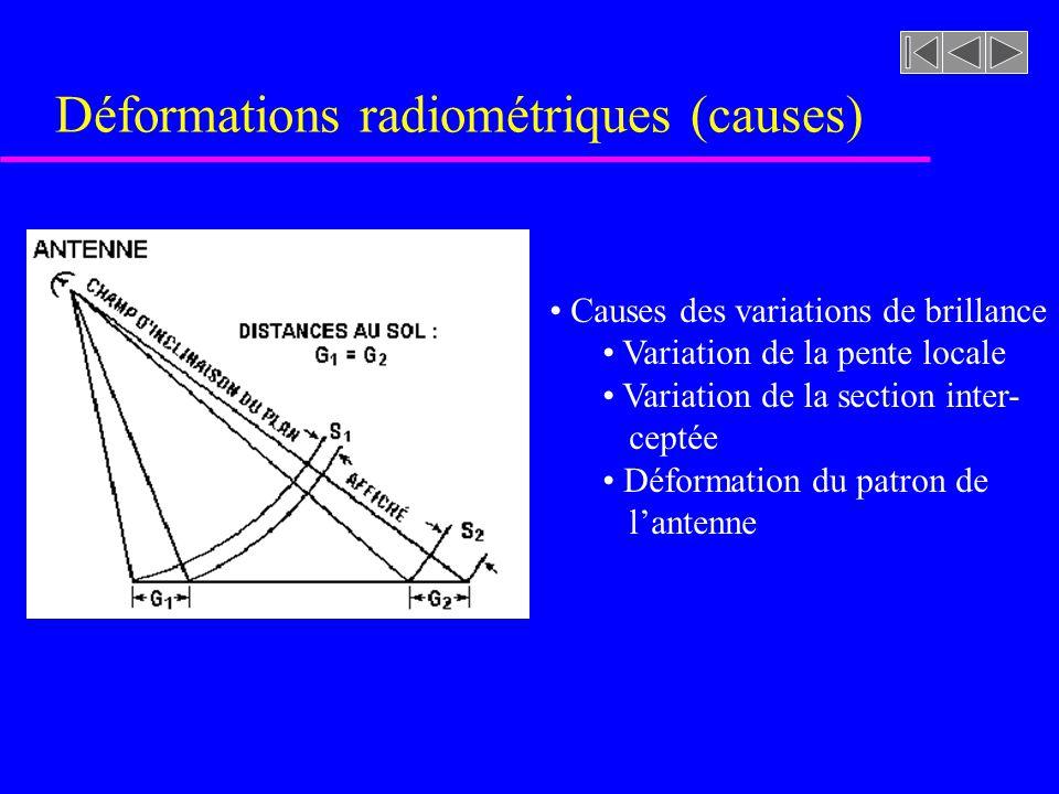 Déformations radiométriques (causes)
